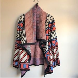 Harper Aztec Draped Cardigan Sweater